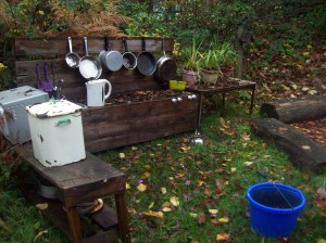 An outdoor kitchen for a local primary school