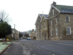 Llanboidy village and Maesgwynne Arms